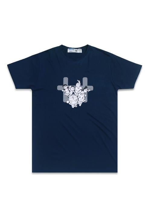 Third Day MTD84E doraemon family logo nv T-shirt Navy