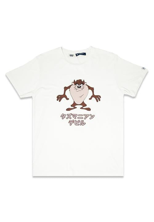 MTG20 Third Day x Ntop looney tunes tazmanian devil japan putih kaos pria