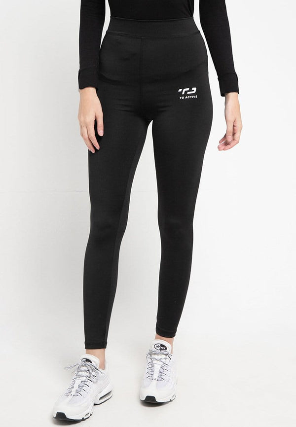 LB029 td active compression legging full line olahraga wanita black