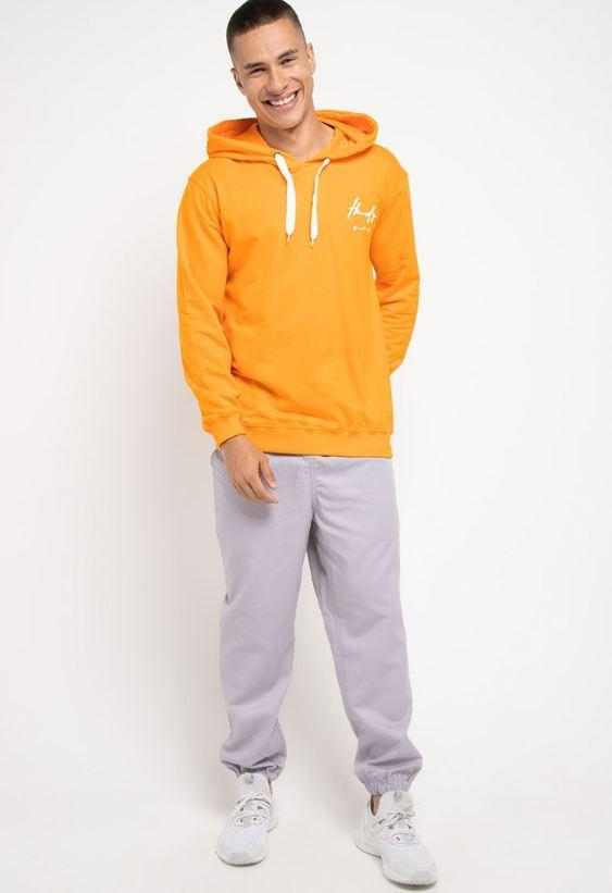 MO192 Thirdday hoodies casual pria dakir thdy sign kuning
