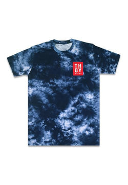 Third Day MTE84 thrdy red tiewash nv Kaos Pria Navy