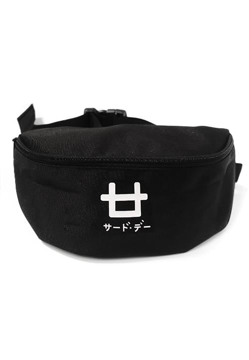 Third Day AM031V waistbag Logo blk Hitam