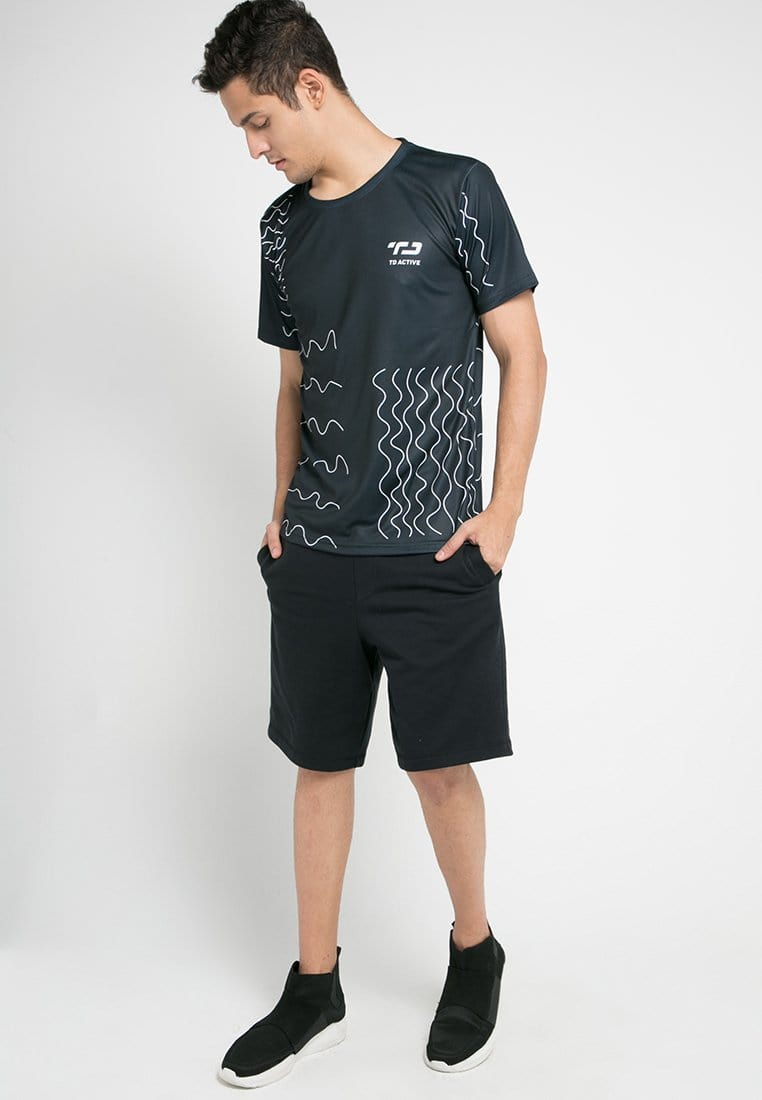 MS094 td active airvent doodle  running jersey hitam