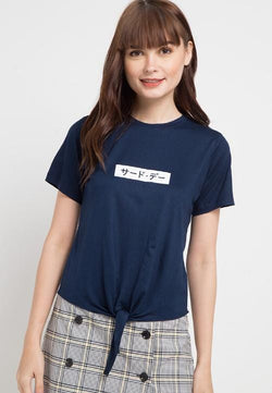 Third Day LTB16E CK invert katakana nv T-shirt Navy