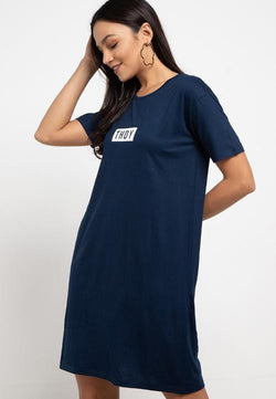 LTB82 ld thdy on white nvy Dress Navy