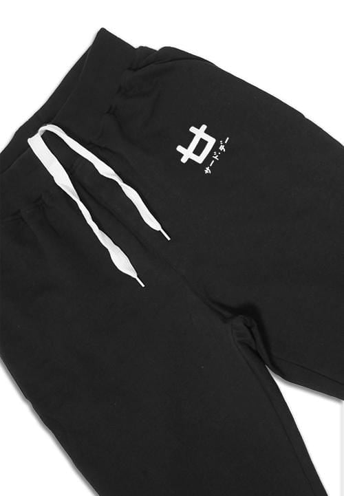 MB072 short jogger logoicon men black