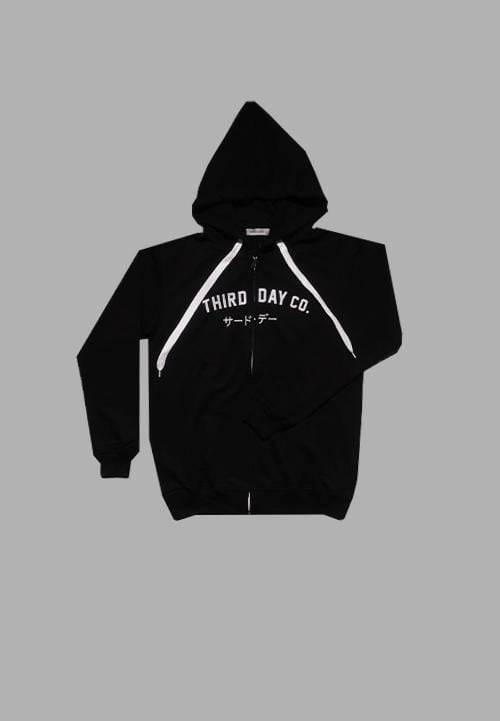MJ015M Men Hoodies Zipper Thirddayco blk