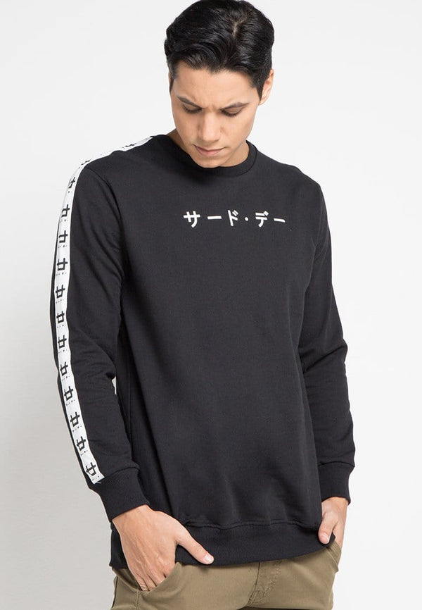 Third Day MO151 sweater logo list katakana only blk Hitam