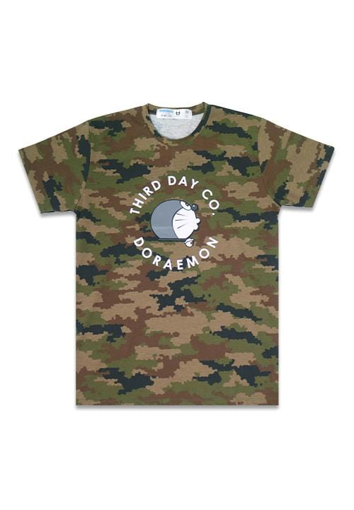 Third Day MTC15A s-s Men camo-px Dora circle brw X Modo T-shirt Multiwarna
