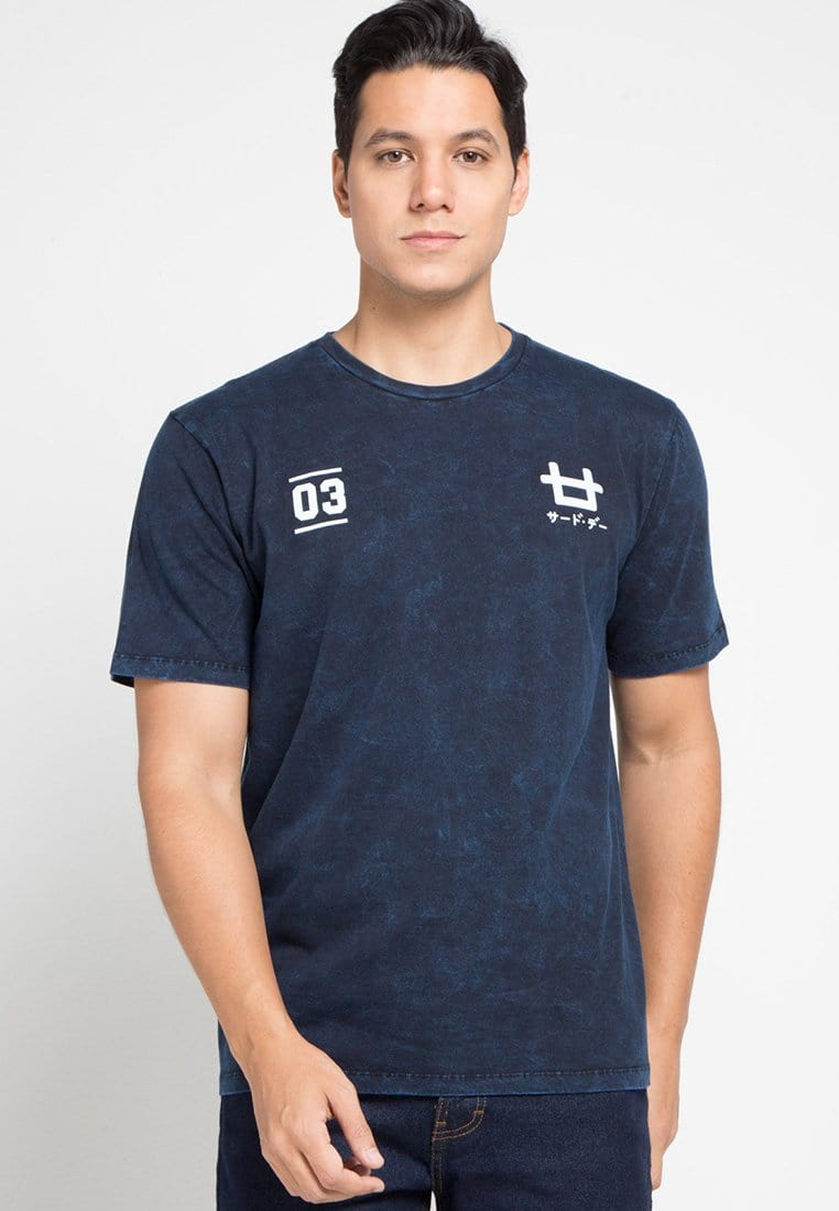 Third Day MTD16C washtees  logo 03 nv T-shirt Navy