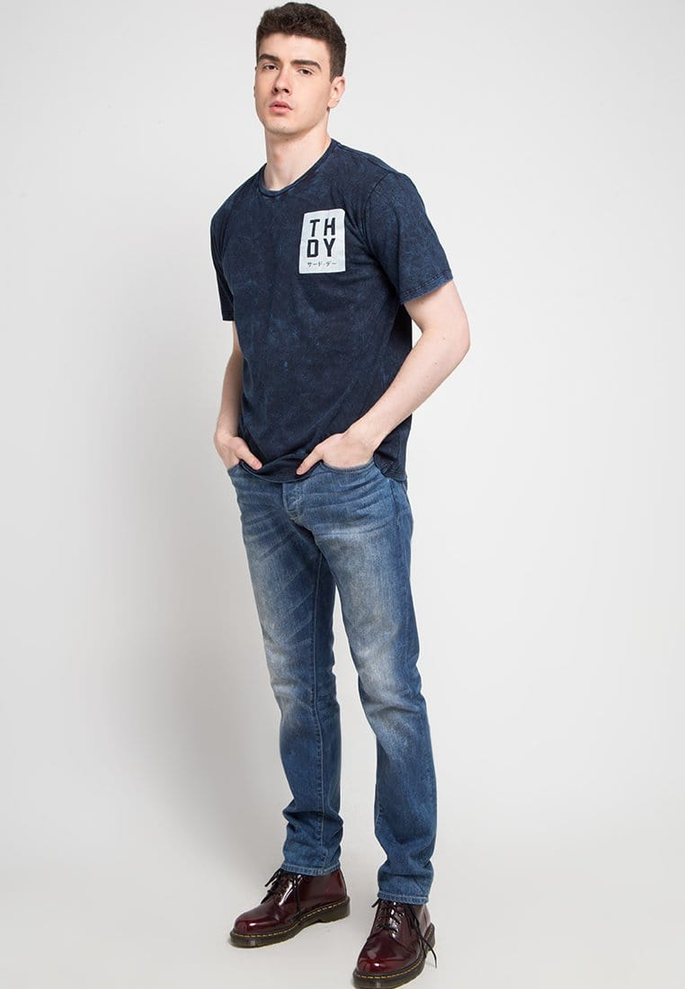 Third Day MTD21C washtess thdy box nv T-shirt Navy