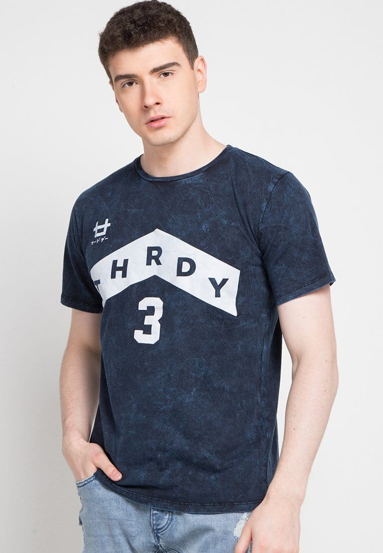 Third Day MTD25C washtees up arrow logo 3 nv T-shirt Navy