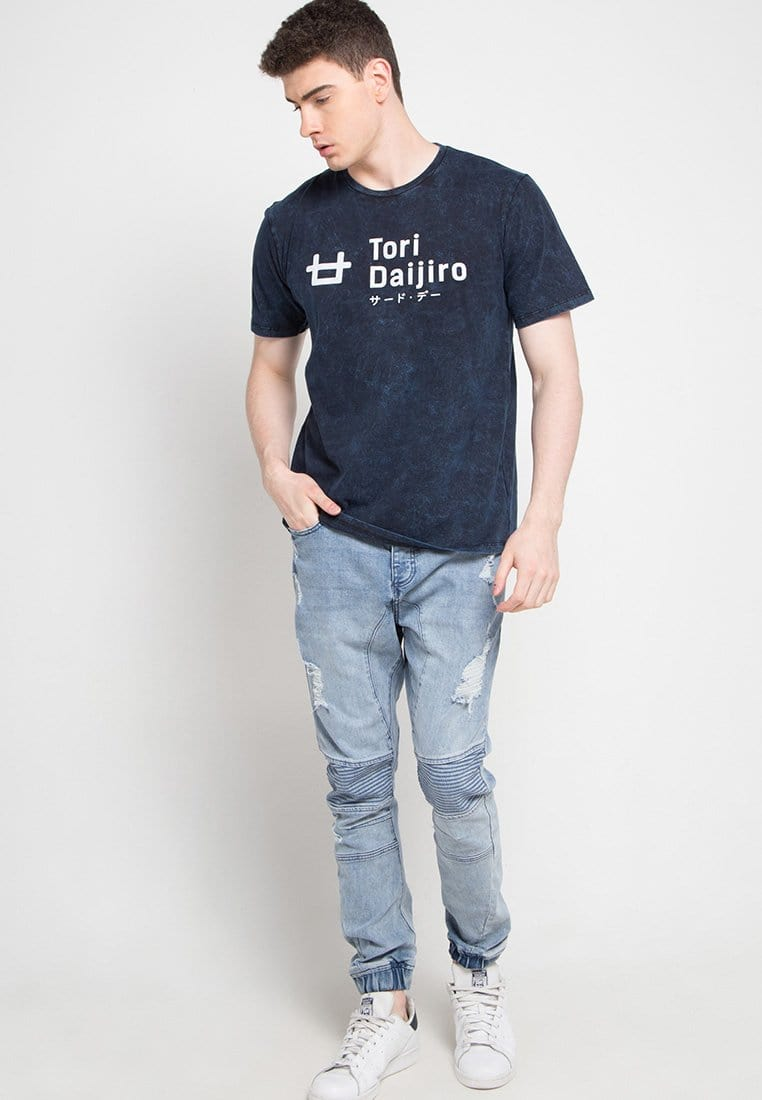 Third Day MTD26C washtees tori daijiro logo nv T-shirt Navy