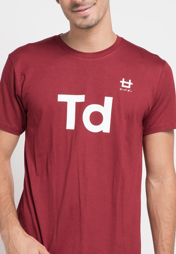 Third Day MTD59D modern Td front logo mr T-shirt Maroon