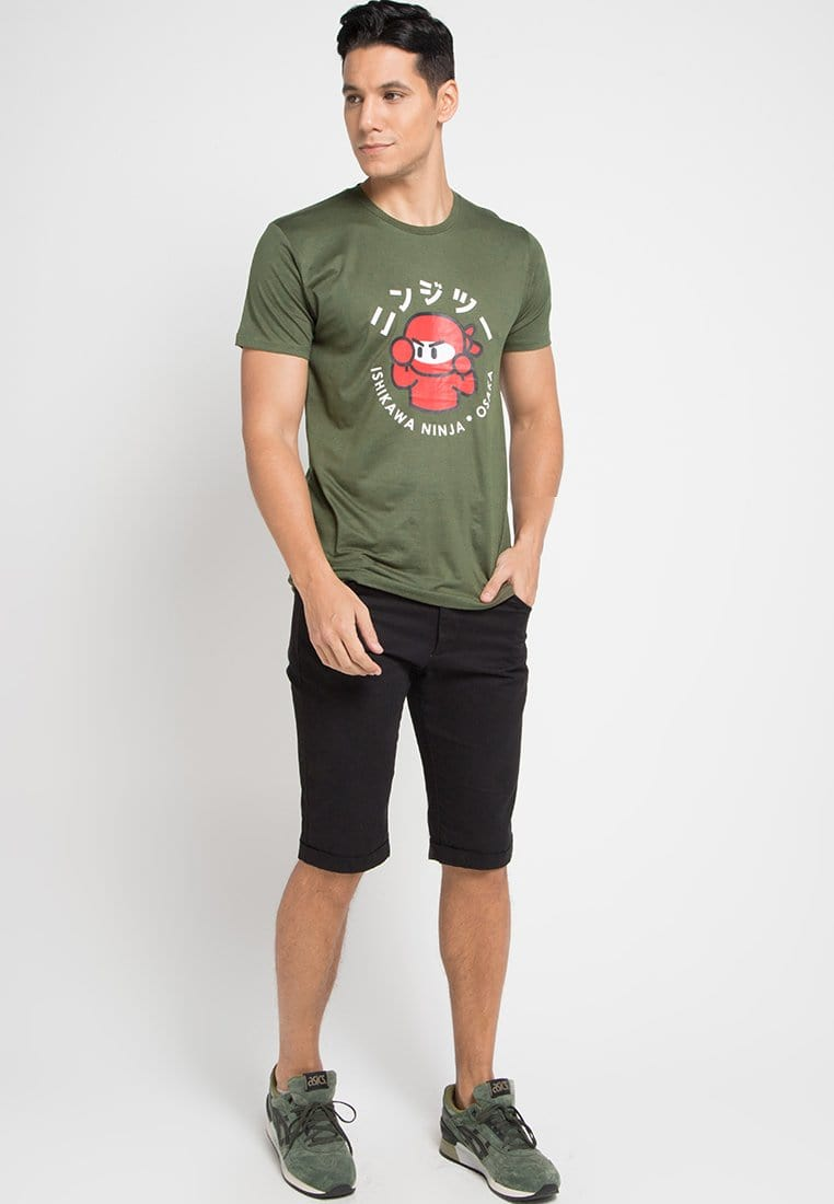 Third Day MTE40F ishikawa champion ga T-shirt Olive