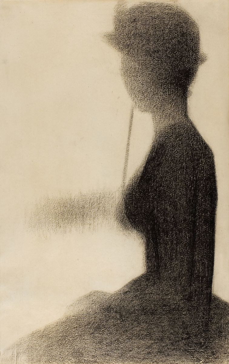 Seated Woman with a Parasol (study for La Grande Jatte)