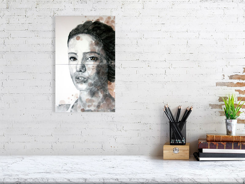 Brown eyed girl | Pop art | Portrait | Tile illustration | Giclée Print on Hahnemühle | Art Poster | Wall Art