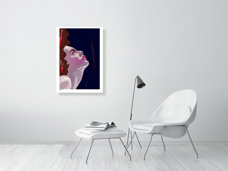 Pleasure. Flashy & glamorous Art Poster Print. I would like for the viewer to feel like they are looking at a classical painting but in modern time.