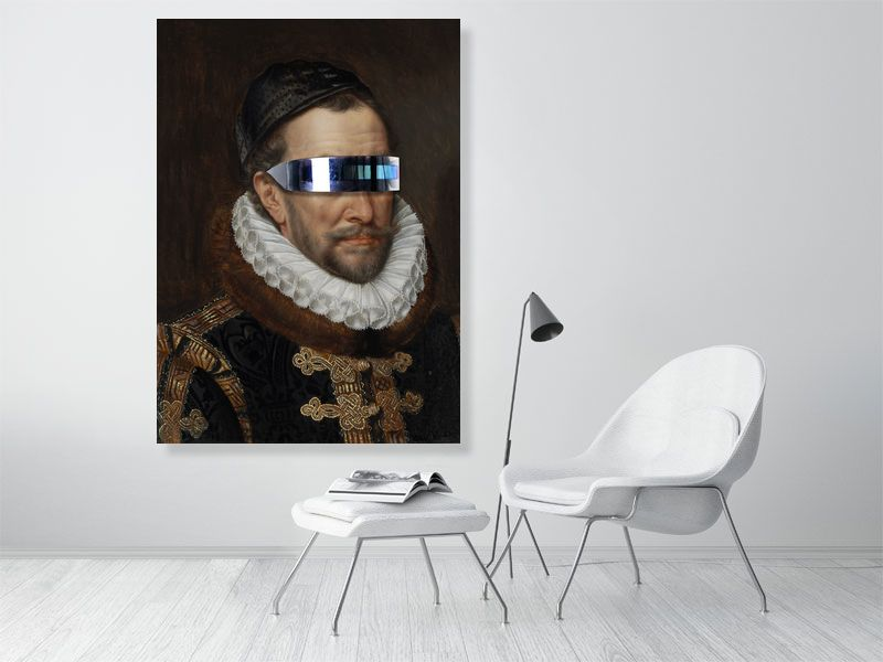 William van Oranje | Old Dutch Masters | Modern remix | Portrait | Giclée Print  | Art Poster | Wall Art