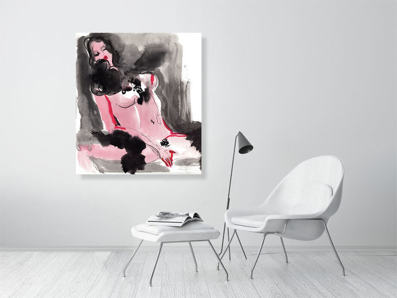 Feeling myself. Nude Art Poster Print