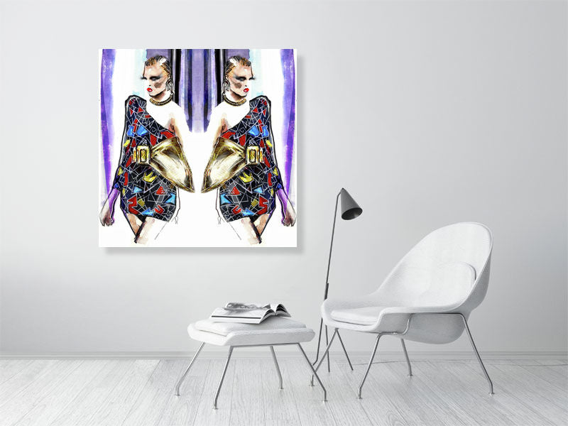 St Laurent. Fashion Art Poster