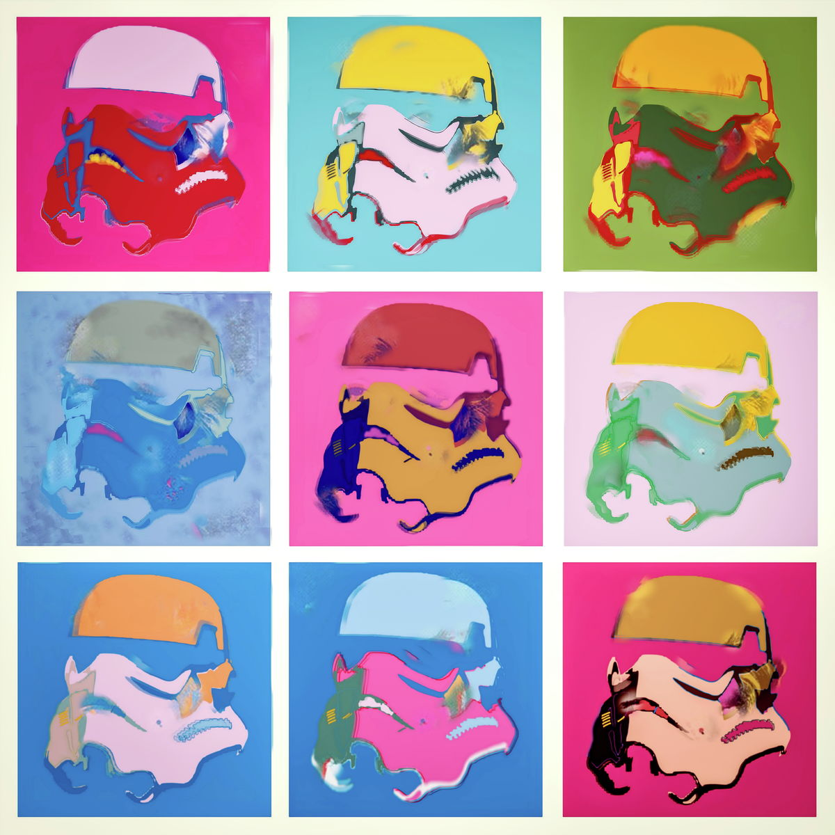 Icons. Star Wars, digital color photography manipulated, Popart style. Art Poster Print