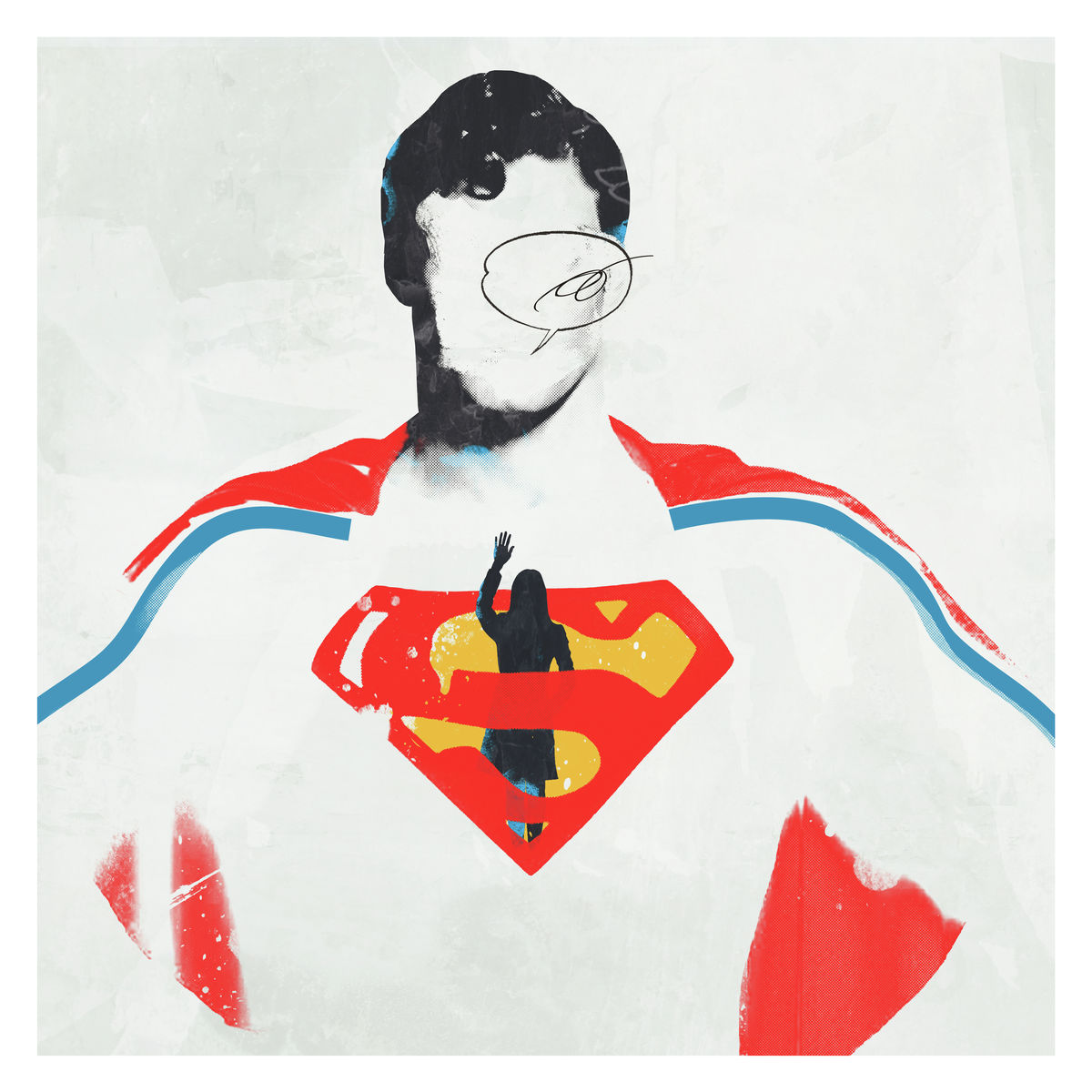 Andy Potts. An illustration a superman illustration not only for the superhero fans, it also can be an art deco! Art Poster Print