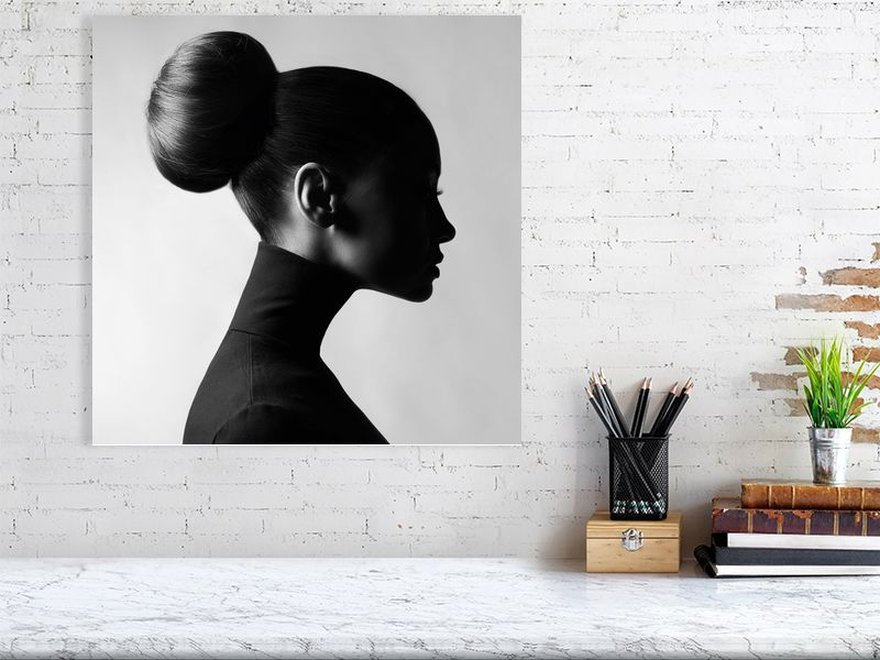 En Profile | Photo Art | Black & White | Portrait woman | Print on C-Type Matt | Art Poster | Wall Art