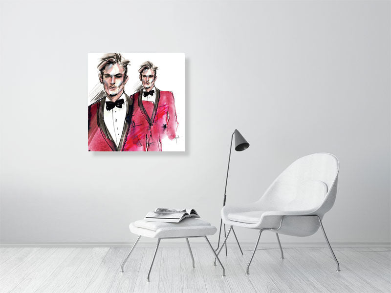 Armani suit. Fashion Art Poster