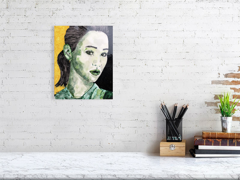 Green of Envy | Pop art | Portrait | Tile illustration | Giclée Print on Hahnemühle | Art Poster | Wall Art