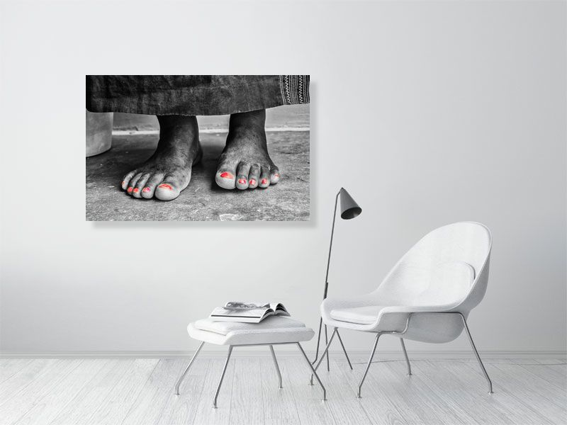 African Feet | Photo Art | Black & White | Africa | Print on C-Type Gloss | Art Poster | Wall Art