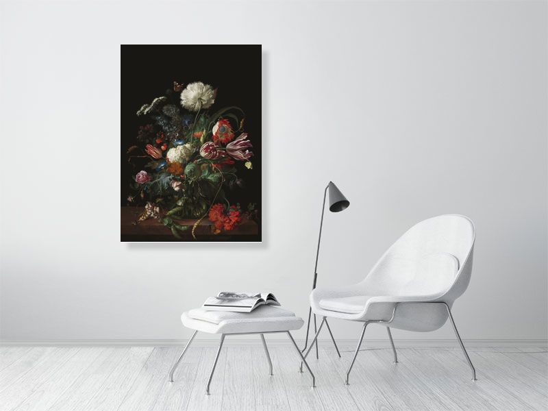 Flowers in a Vase | Old Dutch Masters | Still life | Jan Davidsz de Heem | Aluminium Dibond | Special Edition Art Print | Wall Art