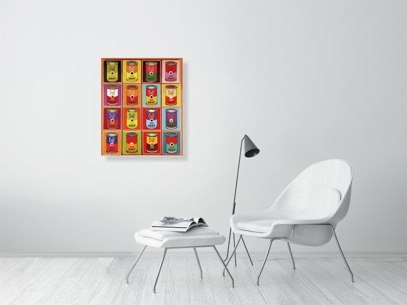 Icons | Pop art | Andy Warhol style | soup cans | Giclée Print on Hahnemühle | Art Poster | Wall Art
