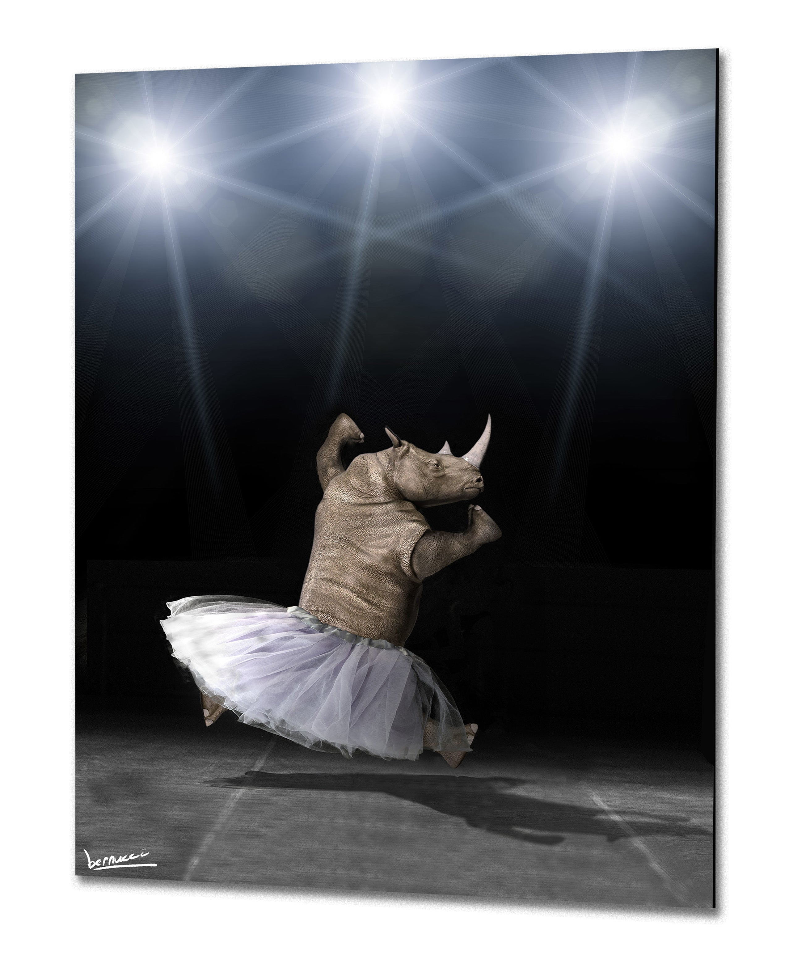 Dance Big Unicorn, Dance! | Special edition metal print