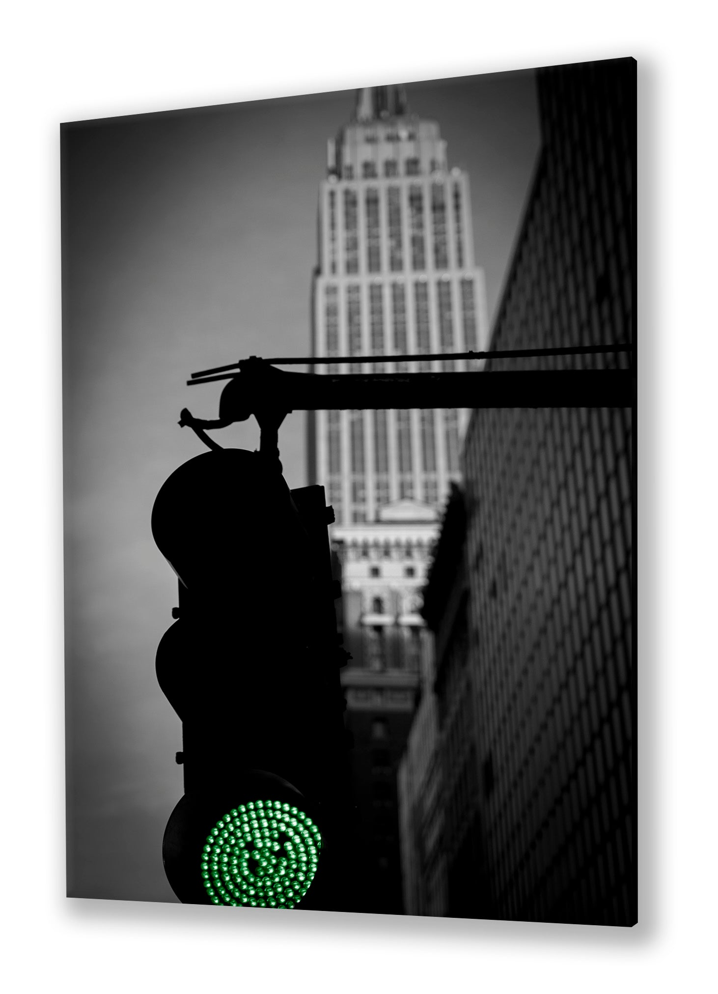 Traffic Light, New York City | Special edition Art Print on Aluminium