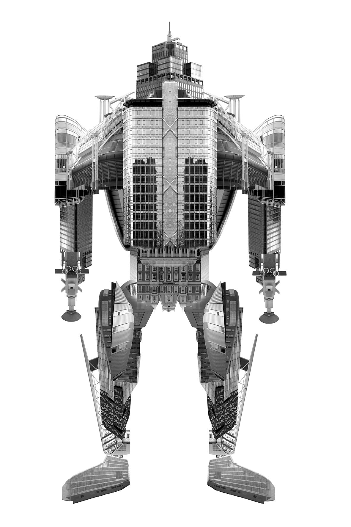 City Robot Amsterdam | Special edition Art Print on Aluminium