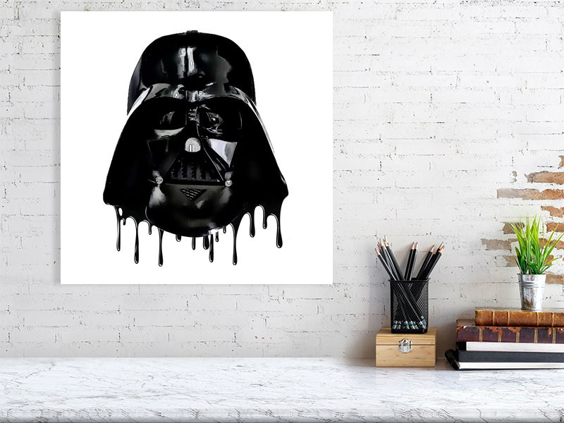 Driping Vader. Film Poster Print. Star Wars