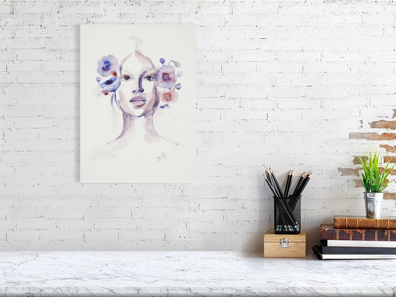 Blossom, art portrait, aquarelle painting, watercolor painting