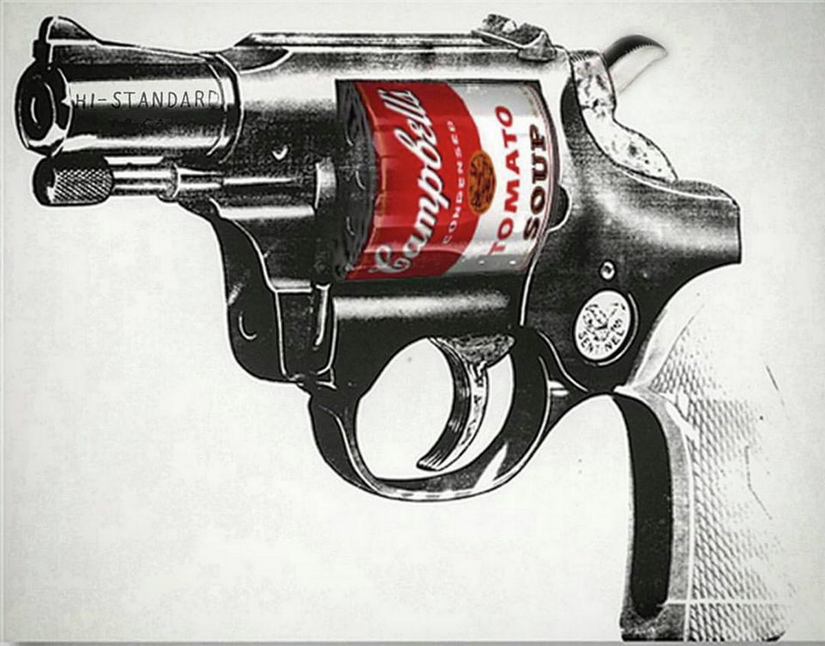Soup Gun | Pop art | Andy Warhol style | Campbell's Soup | Giclée Print on Hahnemühle | Art Poster | Wall Art