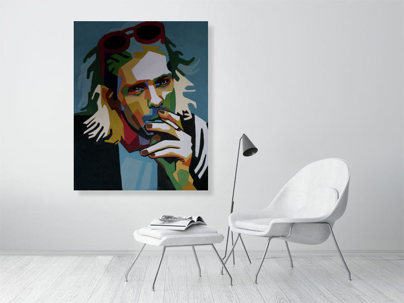 Inhaling Nirvana | Pop art | Kurt Cobain | wpap | Giclée Print on Epson Semi-Gloss | Art Poster | Wall Art