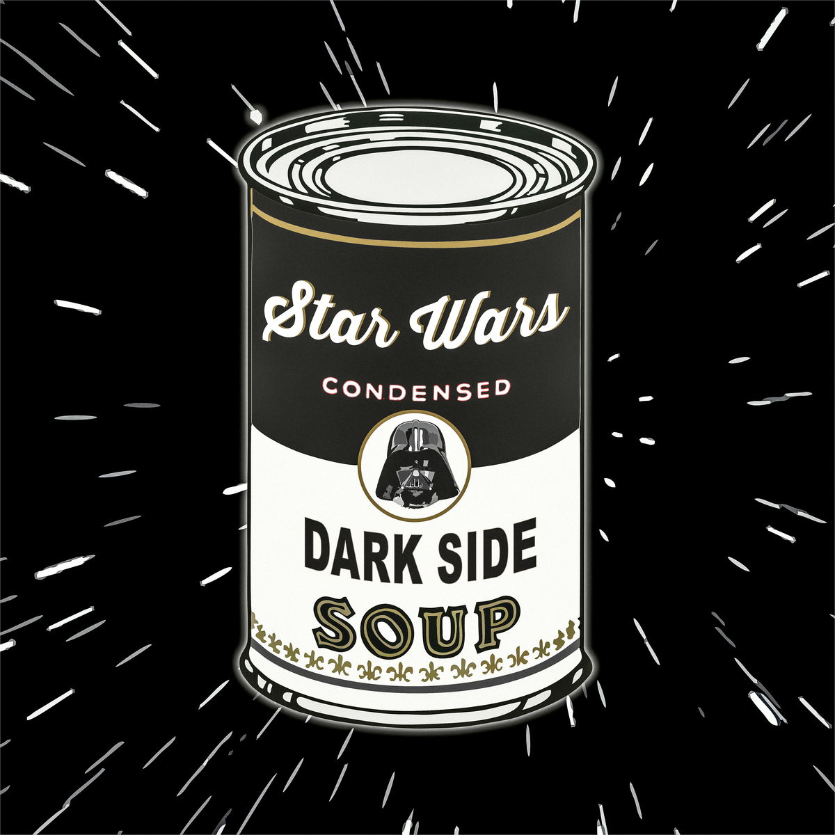 Black Soup. Art Wars. Film Poster Print. Star Wars