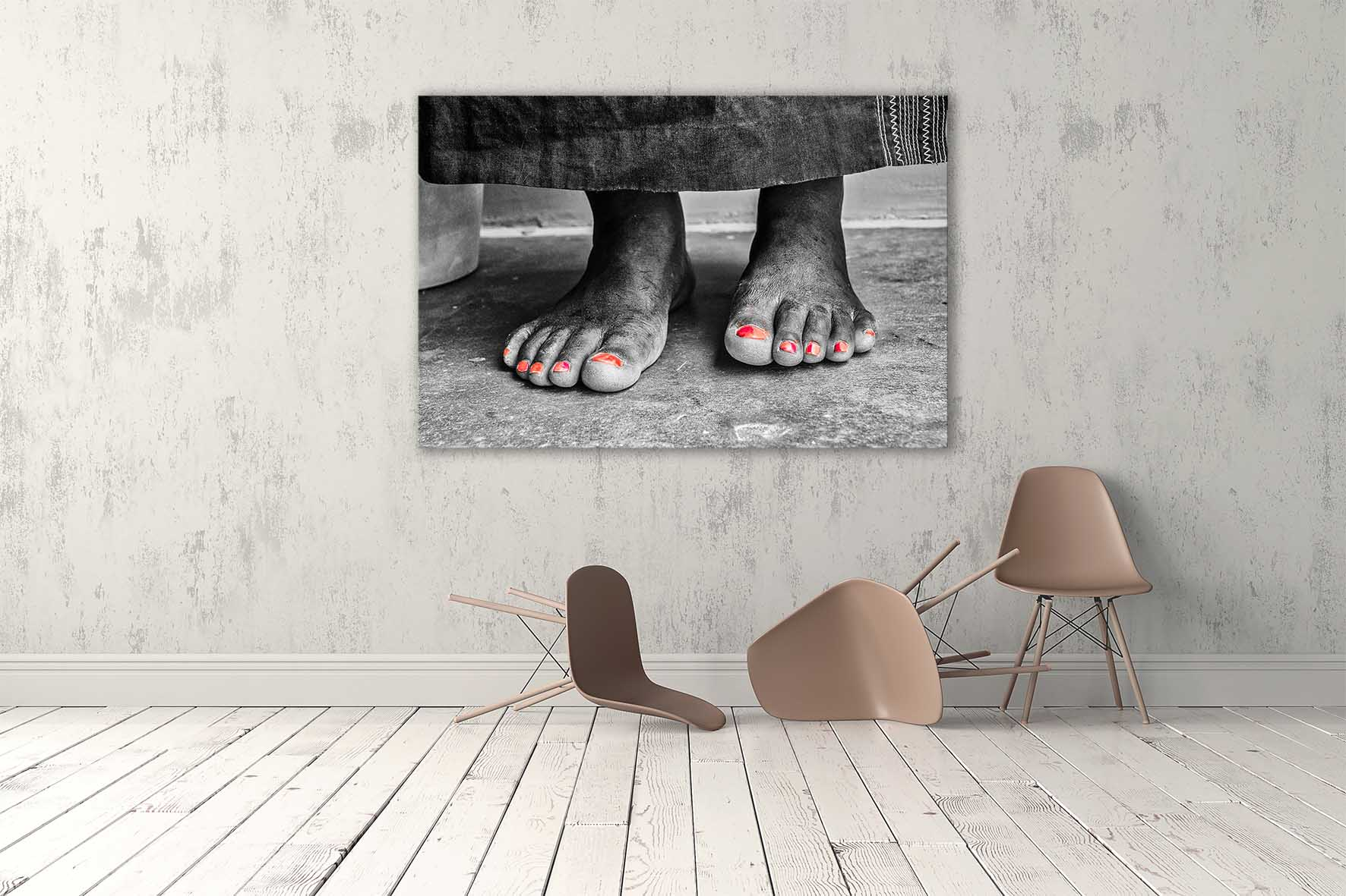 AFRICAN FEET | Photo Art | Black & White | Aluminium Dibond | Special Edition Art Print | Wall Art