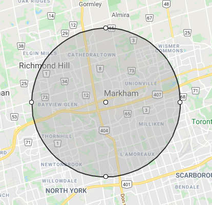 8km Delivery Map