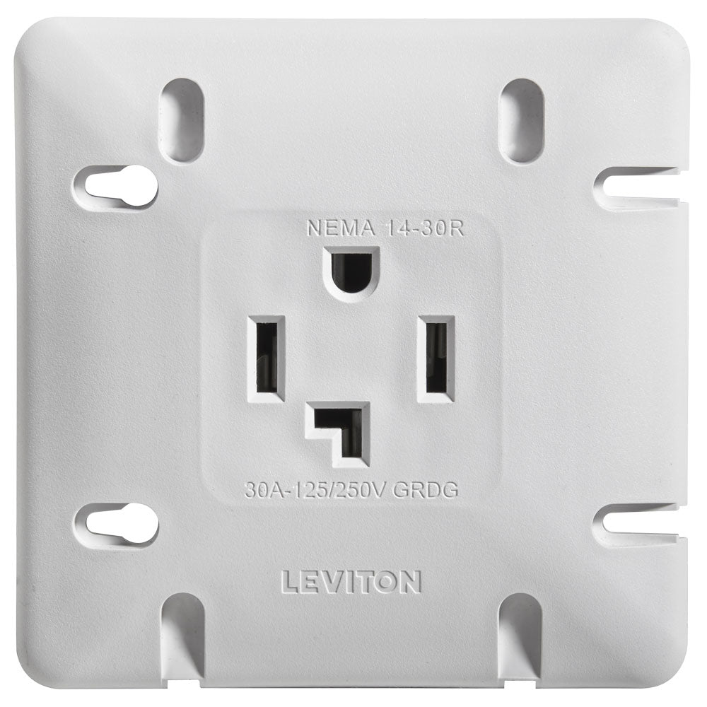 Leviton DRYER Receptacle 30A White 1278-S30
