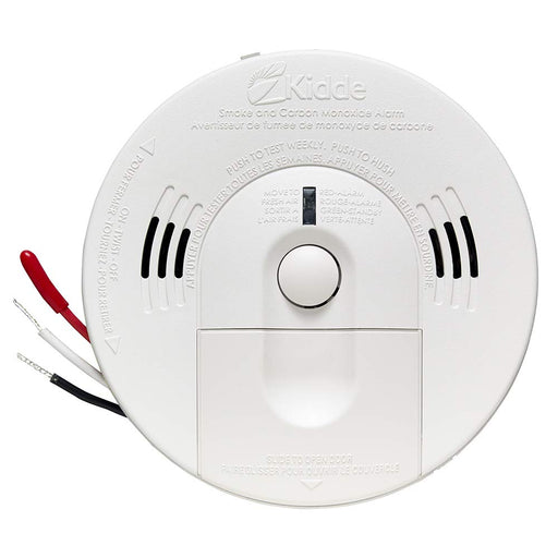 Kidde Direct Wire - 120V Talking Smoke and Carbon Monoxide Alarm with Front-Loading Battery Door - Consavvy
