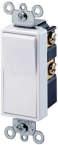 Leviton 5604-2 15 Amp, 120/277 Volt, Decora Rocker 4-Way AC Quiet Switch, Residential Grade, Grounding (White) - Consavvy