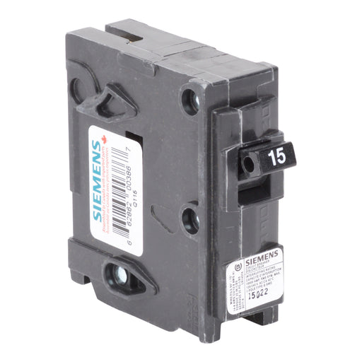 Q115 - Siemens 15 Amp Single Pole Circuit Breaker - Consavvy
