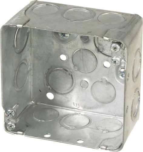 "VISTA 20172 1Pack/40Pack  2 1/8"" Deep Square junction box w/knockouts - Consavvy"