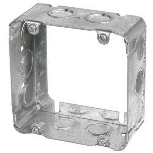 "VISTA 20247 1Pack/30 Pack 2 1/8"" Deep Square extension box 4 11/16'' Square w/knockouts - Consavvy"