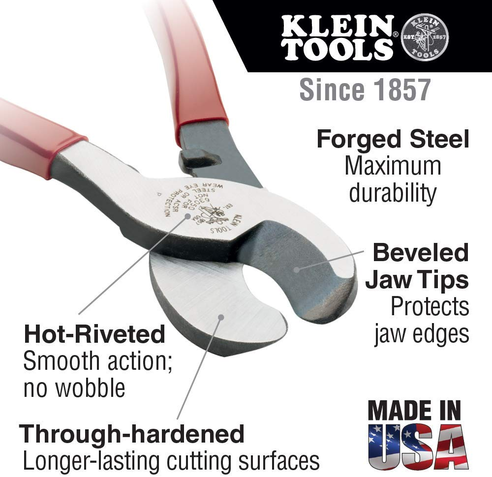 Klein J63050 Journeyman High-Leverage Cable Cutter - Consavvy